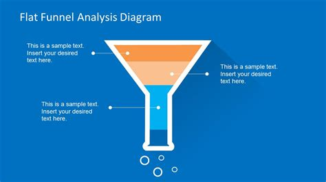 flat funnel analysis diagram template  powerpoint