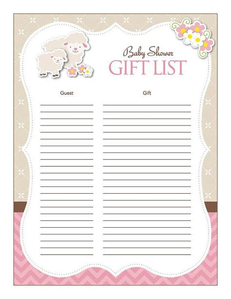 Baby Gifts For Baby Shower List - instant theme baby shower gift list