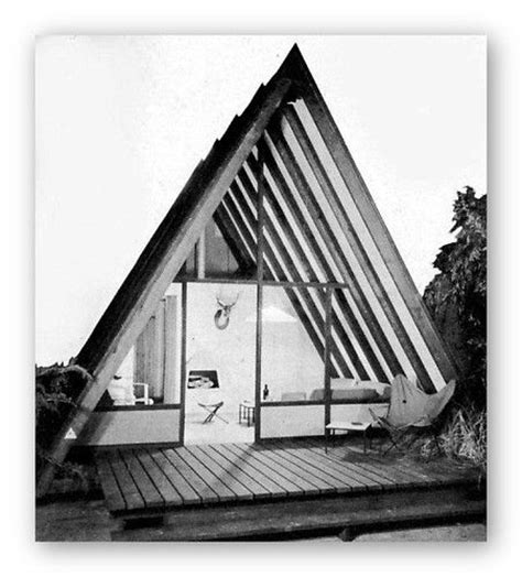 modern a frame house plans 1952 vacation houses cabins a frames mid century