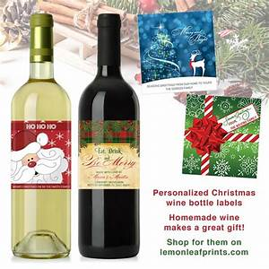 personalized christmas wine bottle labels With custom printed wine bottle labels