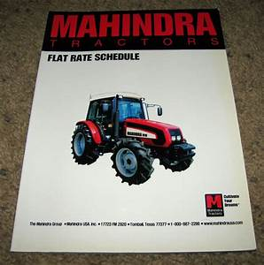 Mahindra 2310 Thru 7010 Tractor Service Price Guide Flat Rate Manual