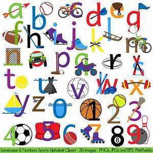 Sports alphabet clipart clip art sports letters font for Sports letter art