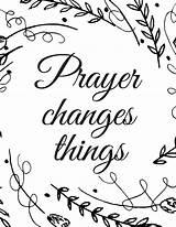 Prayer Changes Printable Coloring Pantry Pdf sketch template