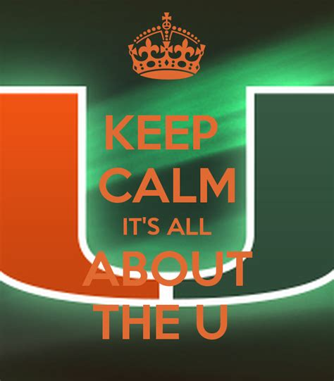 Keep Calm It's All About The U Poster  Cateraottrix  Keep Calmomatic