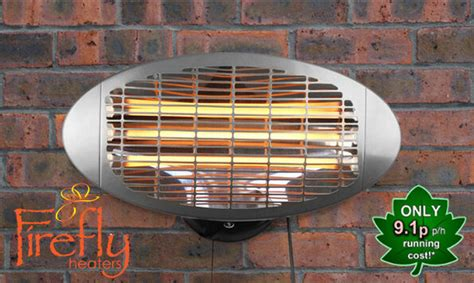 2kw electric patio heater wall mounted halogen firefly 3
