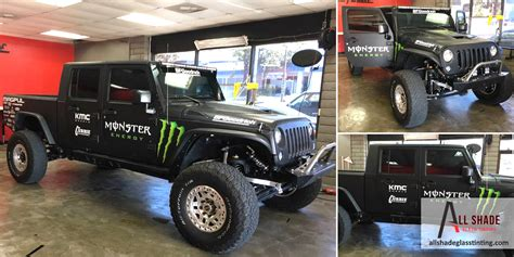 monster energy jeep monster energy jeep truck window tinting all shade 3m