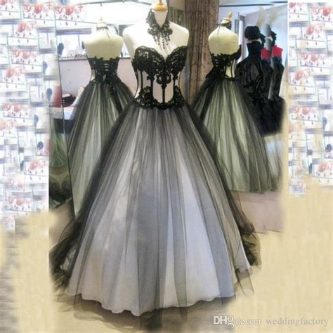 2015 Victorian Gothic Wedding Dresses Real Image High