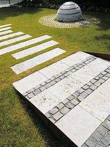 Platten Für Garten : natursteinplatten platten als wegebelag belag f r eine rollstuhlrampe im garten ~ Orissabook.com Haus und Dekorationen