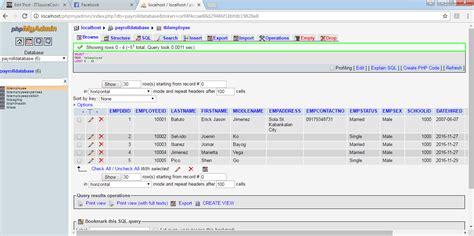 mysql query select statement  managing payroll