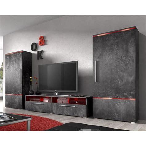 meubles de cuisine discount ensemble meuble tv couleur effet béton ciré design canon 3 sans éclairage achat vente meuble