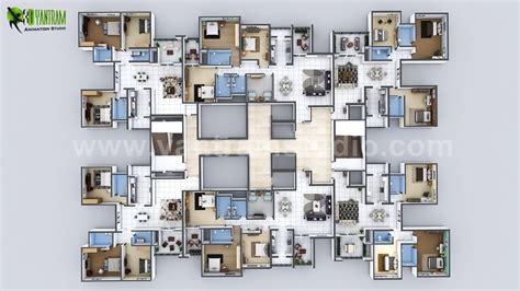 creative 3d home floor plan design of entire apartment