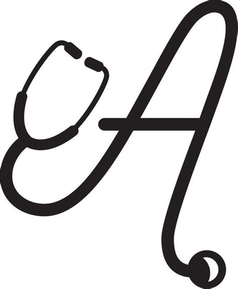 nurse stethoscope letter decal letter decals nurse stethoscope stethoscope drawing