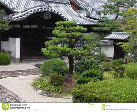 japanese garden temple japanese temple garden stock photo image of history roofs 56936