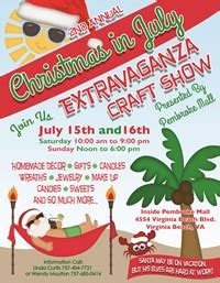 pembroke mall christmas in july extravaganza craft show