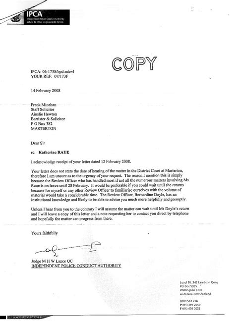Sample Complaint Letter To Police Inspector - format of a