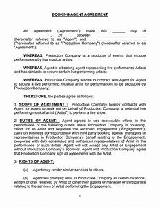 talent agent contract template free printable documents With band booking contract template