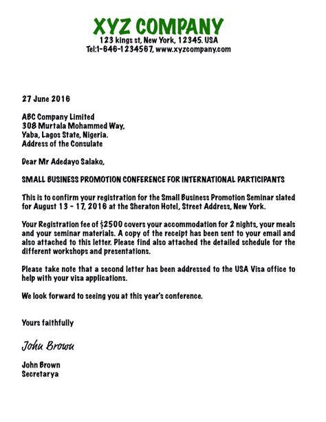 letter of invitation for visa writing an invitation letter for business visa usa b1 11107