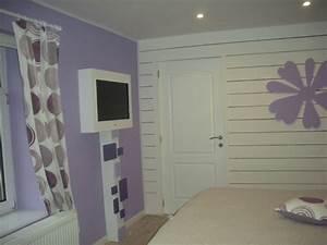 Chambre mauve et blanc photo 1 8 3512765 for Chambre mauve et blanc
