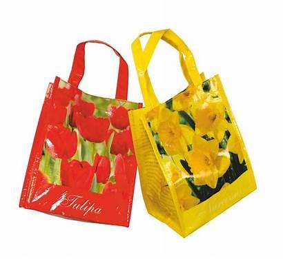 Bulb Bags Woven Pp Shopper Uts Flowers
