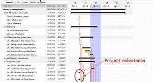 Project Milestones Gantt Chart Workpack