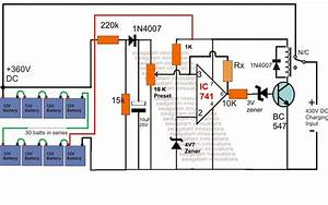 High Voltage Battery Charger Circuit