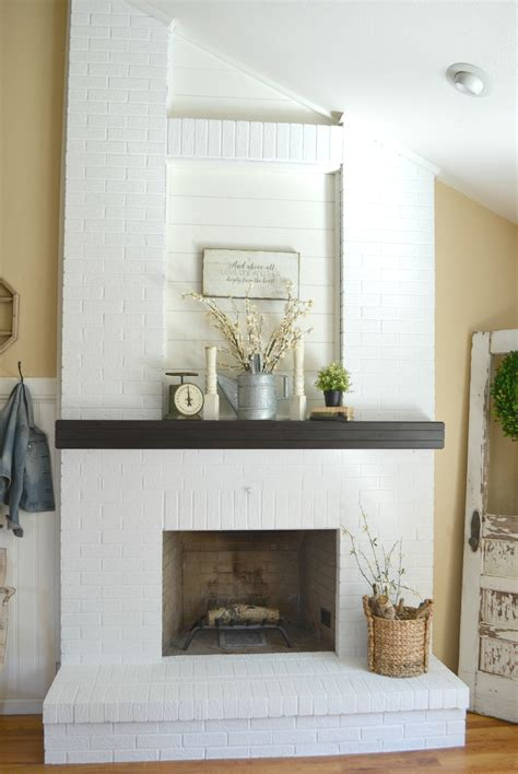 how to paint a brick fireplace how to paint a brick fireplace vintage nest