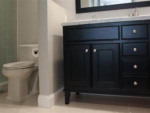 photos hgtv With how to install bathroom vanity against wall