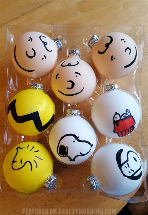 charlie brown peanuts gang christmas ornament crafts