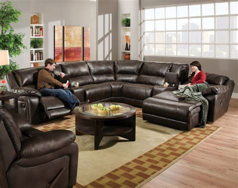 american freight sectional sofas blackjack cocoa reclining sectional transitional sofas