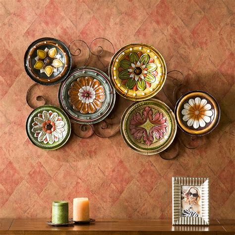 tuscan decorative wall plates scattered italian plates wall kitchen tuscan living