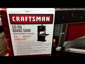 Craftsman 10 Inch Band Saw Unboxing And Assembly Bought