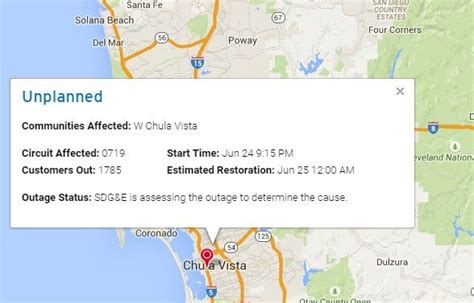 Power Restored To Thousands Sdg&e Customers After Outages