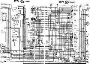 Chevrolet Corvette 1974 Complete Electrical Wiring Diagram