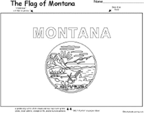Montana State Flag Coloring Page Democraciaejustica