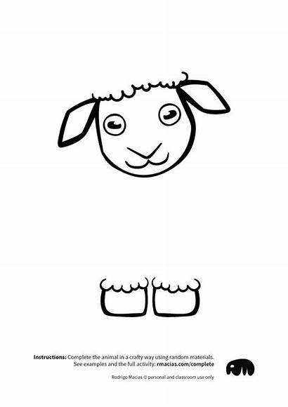 Complete Animals Sheep Crafts Arts Coloring Activities