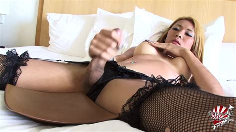 Karina Shiratori Cock And Dildo Play In Black Lingerie For
