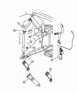 2011 Jeep Wrangler Seat Belt  Left  Retractor  Trim    O0