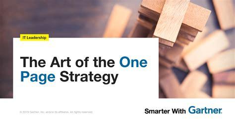 art    page strategy smarter  gartner