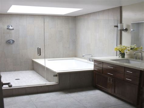 free standing tub shower bathroom with separate tub and