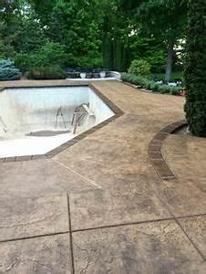 faux wood decorative overlay stamped concrete westcoat With ordinary pierre pour allee de jardin 13 terrasse en beton cire