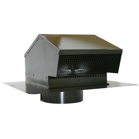 Speediproducts 6 In Galvanized Flush Roof Cap In Black