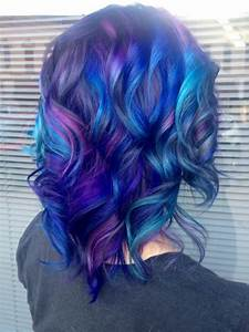 Purple Mermaid Hair Melting Into Magenta Hair Color By Of