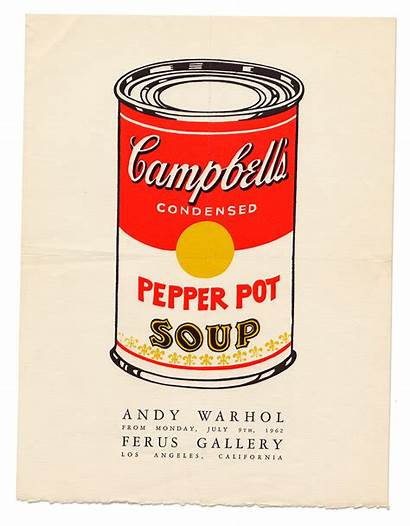 Soup Warhol Andy Campbell Paintings Cans Campbells