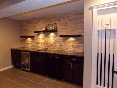 Bar Wall Shelves by Cmh Builders Bar With Floating Shelves On Stacked