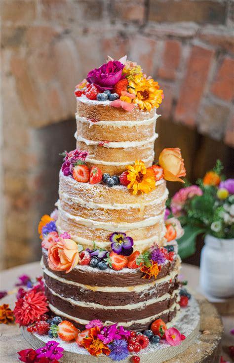 edible flowers  naked wedding cakes fresh edible