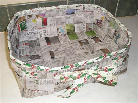 tutorials  weaving  basket   newspaper guide