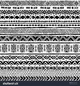 Black White Navajo Seamless Pattern Aztec Stock Vector ...