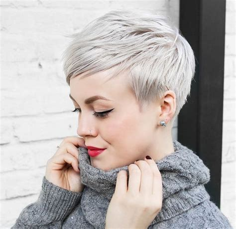 perfect pixie haircuts  chic short haired women