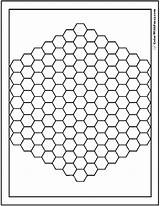 Coloring Pages Pattern Bee Hive Hex Hexagon Template Beehive Patterns Geometric Pdf Detailed Printables Templates Colorwithfuzzy sketch template