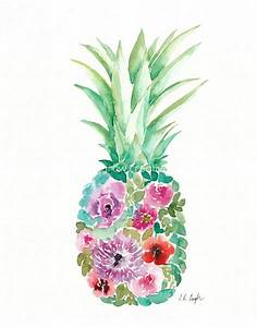 Grow Creative Blog: Watercolor Floral Pineapples